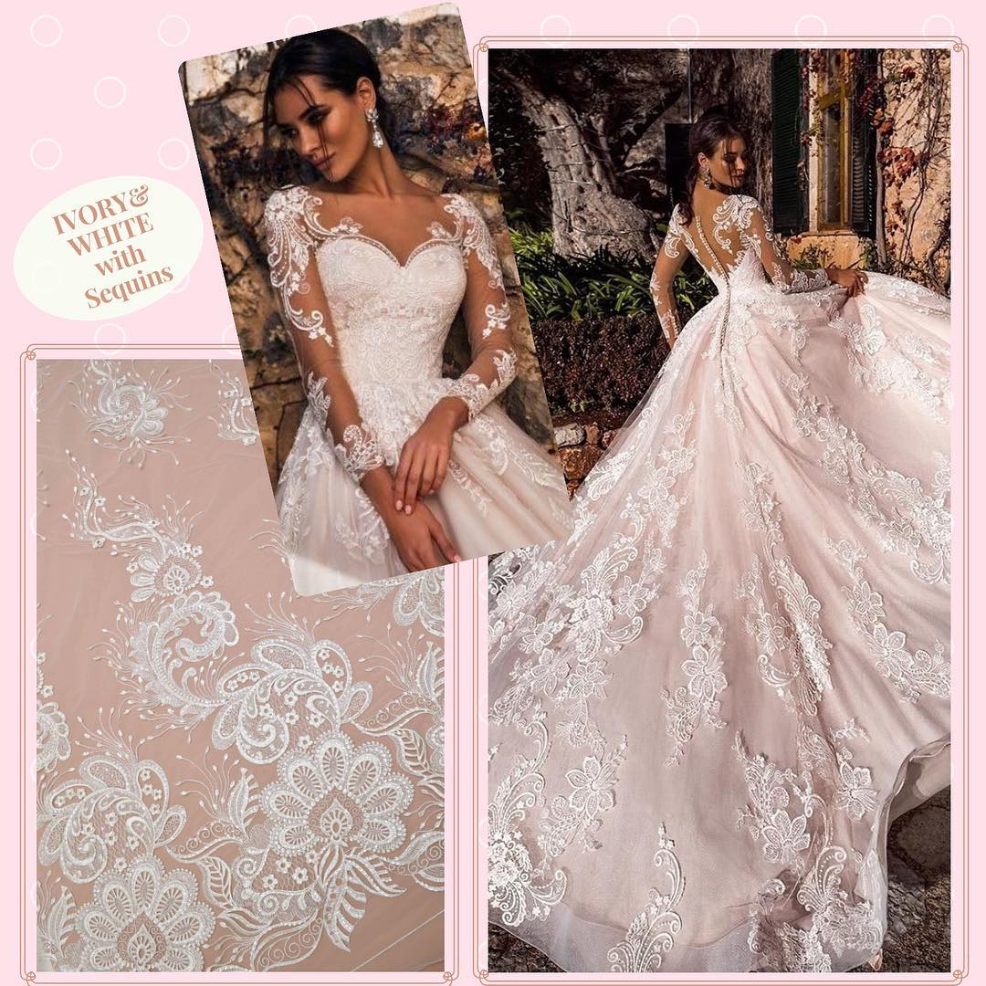fabrics for wedding and evening dresses wholesale