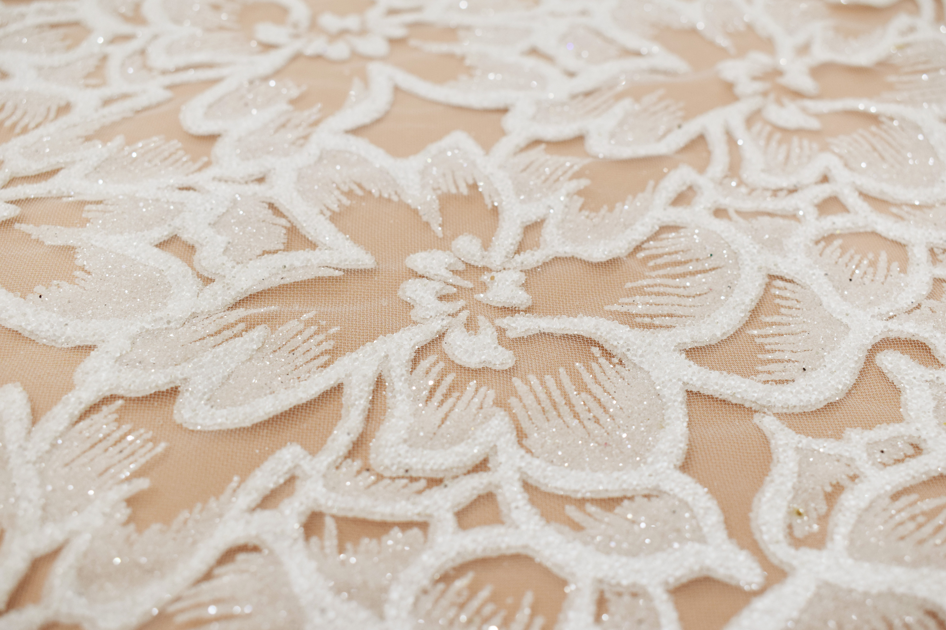 Fabric mesh: With glitter «AKN-567»